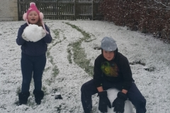 Toby and Zara Rolled Snowballs